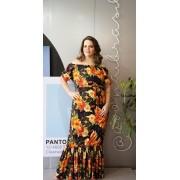 Vestido longo Floral ombro Cód:14945