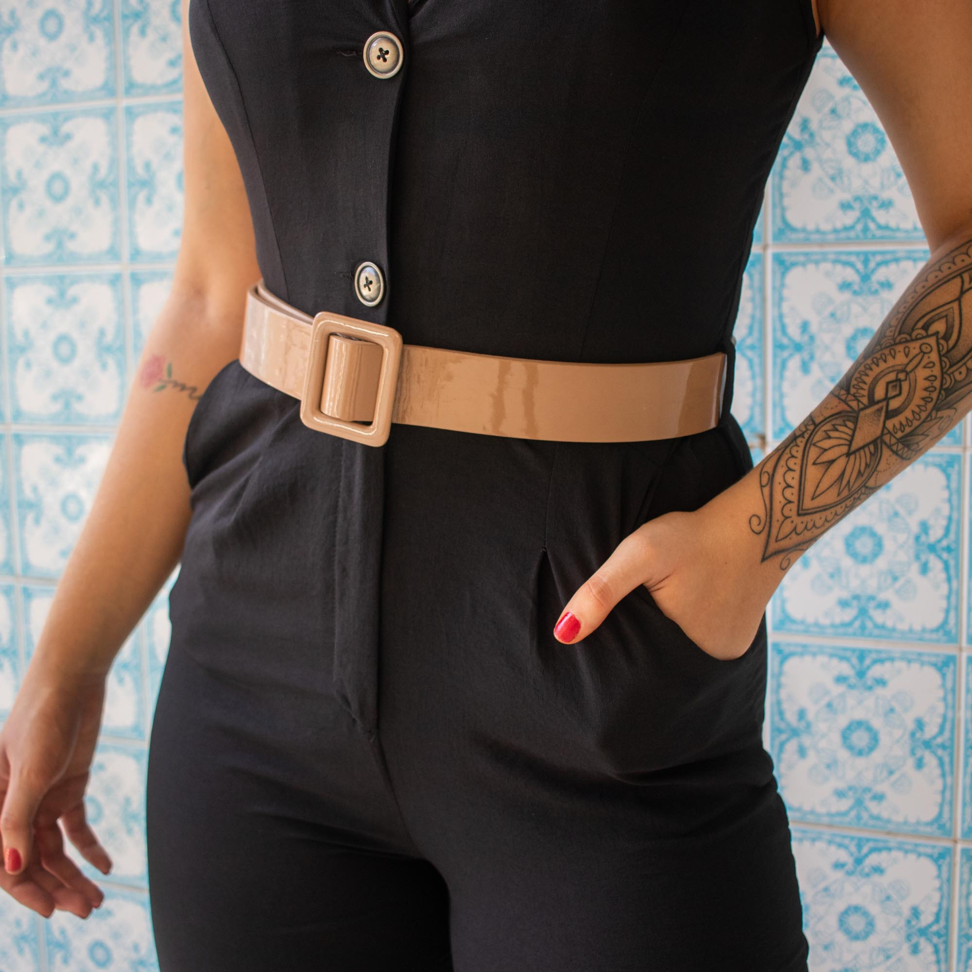 Macacão Gola Fashion Cód:14615