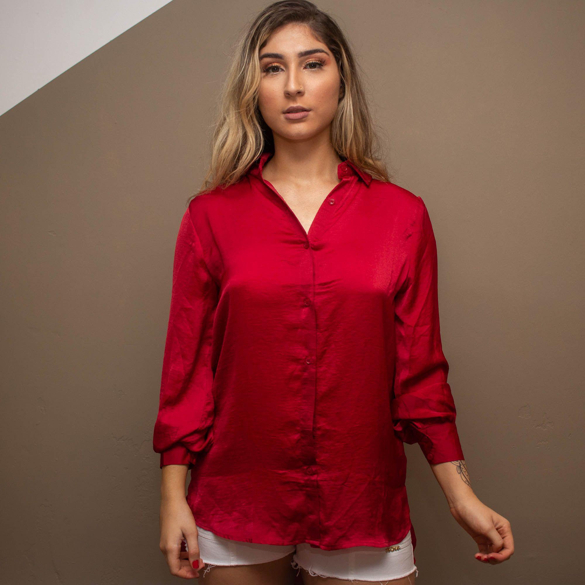 Máxi Camisa Manga Longa Cód:14614