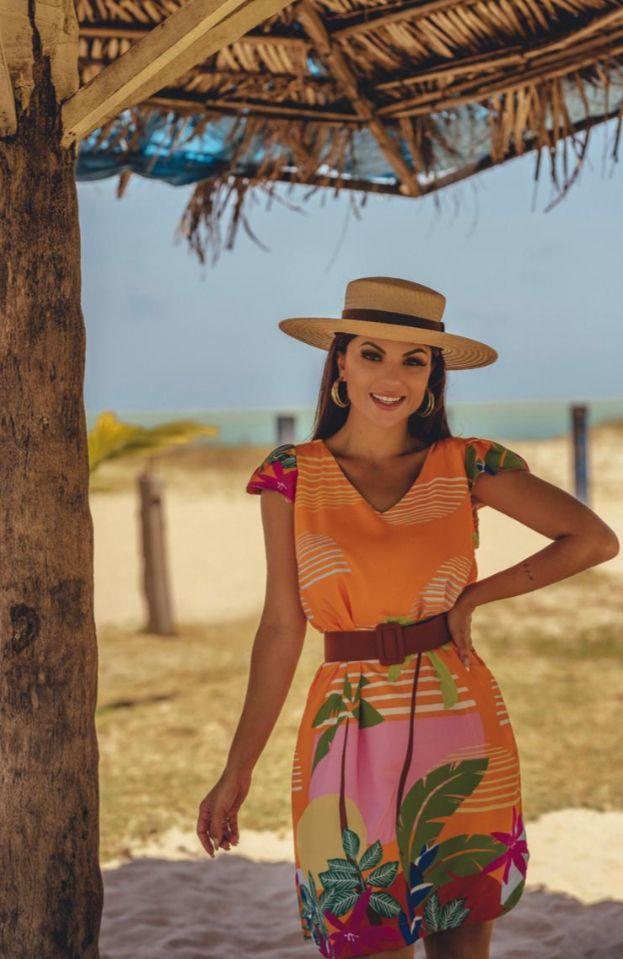 Vestido  Estampado Sol P Cód:14589