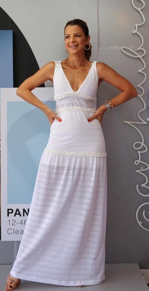 Vestido Malha Rendada Cód:14837