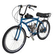 Bicicleta Motorizada 80cc Kit Motor 2 Tempos Azul