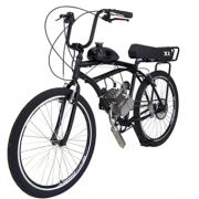Bicicleta Motorizada 80cc Kit Motor 2 Tempos Preto