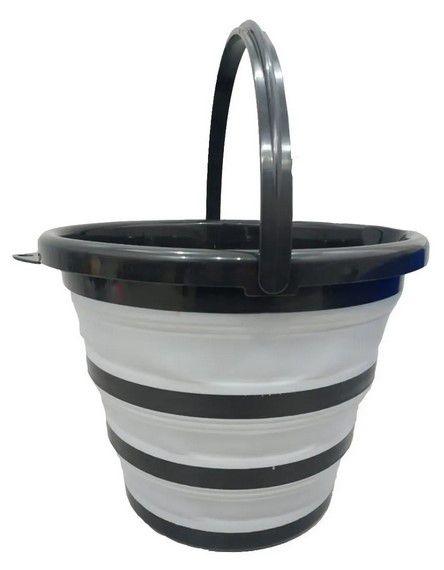 Balde Dobrável Retrátil Flexível Capacidade 10 Litros Água