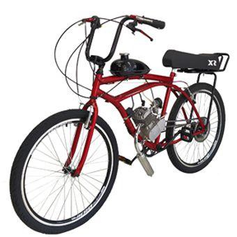 Bicicleta Motorizada 80cc Kit Motor 2 Tempos Cereja