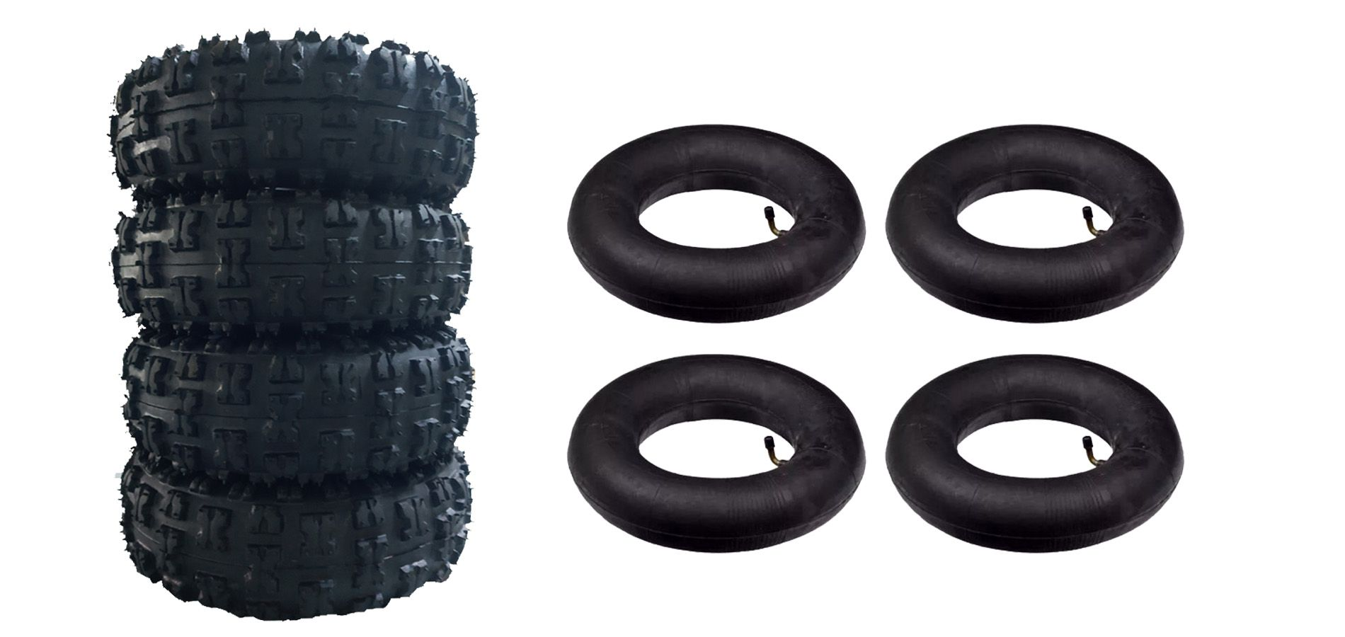 Kit 4 Pneus e 4 Camaras do Buggy  4.10 X 3.50 Aro 4