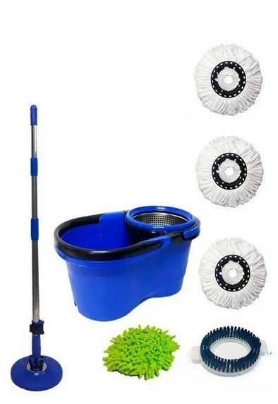 Kit Balde Perfect Mop 360 Cabo 1.60m com 5 Refis