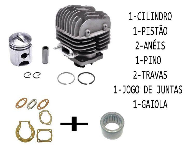 Kit Cilindro Pistão Anel Gaiola  e Junta Walk Machine