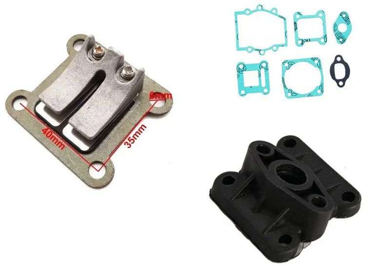 Kit Palheta Coletor e Junta do Carburador Mini Moto 47CC, 49CC 2T