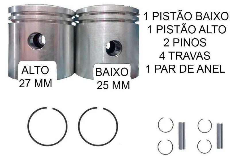 Kit Pistão Biela Alta e Baixa com Anéis