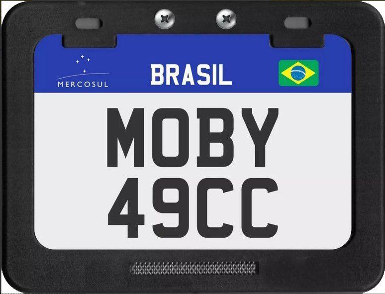 Placa de Identificação Mercosul MOBY  para Shineray, Traxx, Walk Machine e Bikes Motorizadas.