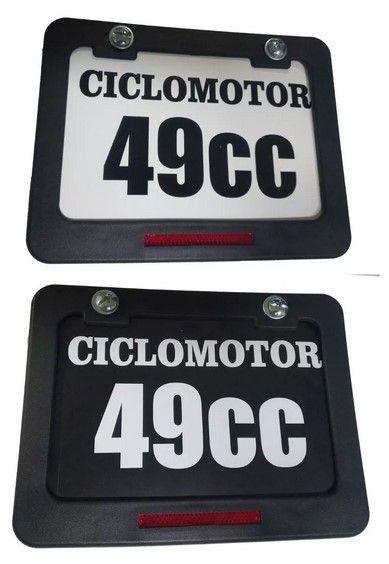 Placa de Identificação Sinalizadora  para Shineray, Traxx, Walk Machine e Bikes Motorizadas.