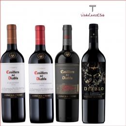 Kit  de Vinhos Tintos Chilenos Casillero del Diablo