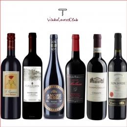 Kit de vinhos Tintos Italianos