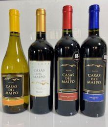 Kit Degustação Vinhos Chilenos Casas del Maipo