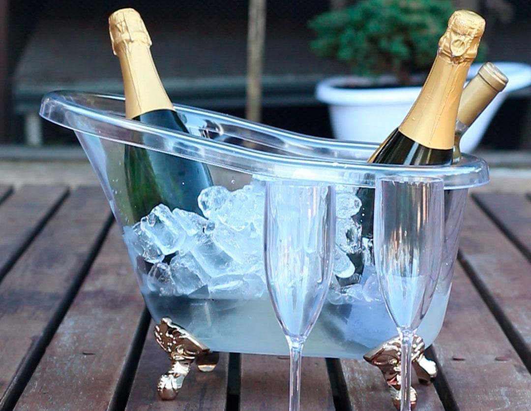 Champanheira para 4 garrafas Banheira
