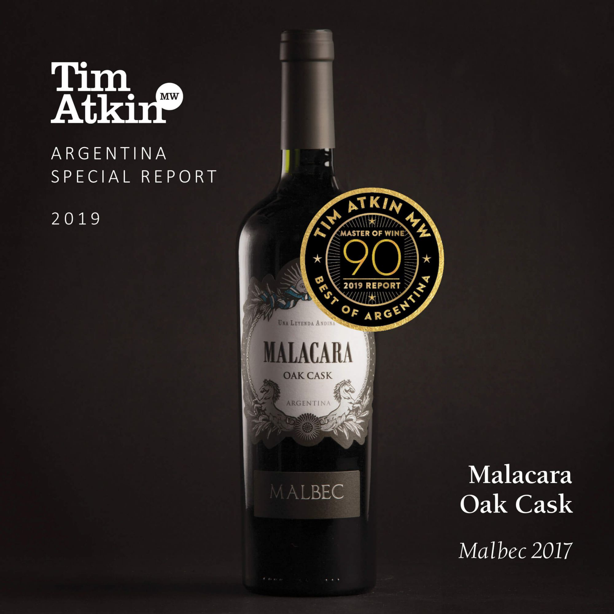 Vinho Tinto Argentino Malacara OAK CASK Malbec 2017