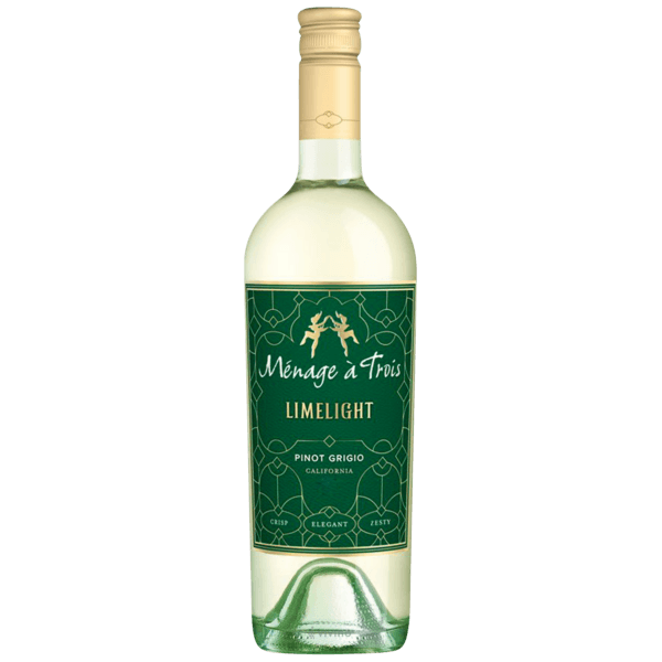 Vinho  Branco Californiano Menage á Trois Limelight Pinot Grigio