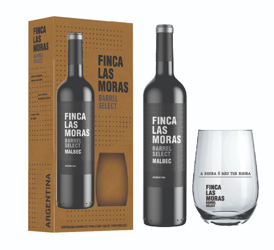 Vinho Finca Las Moras Barrel Select + Copo