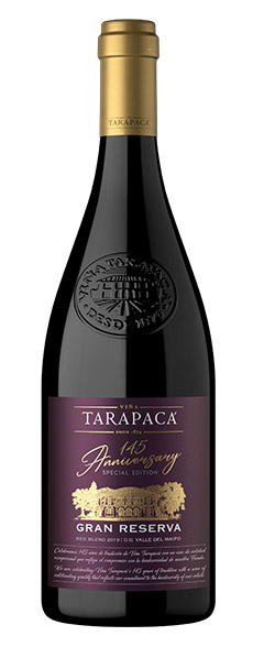 Vinho Tinto Chileno Tarapaca Gran REserva Edição Especial 145 Aniversario