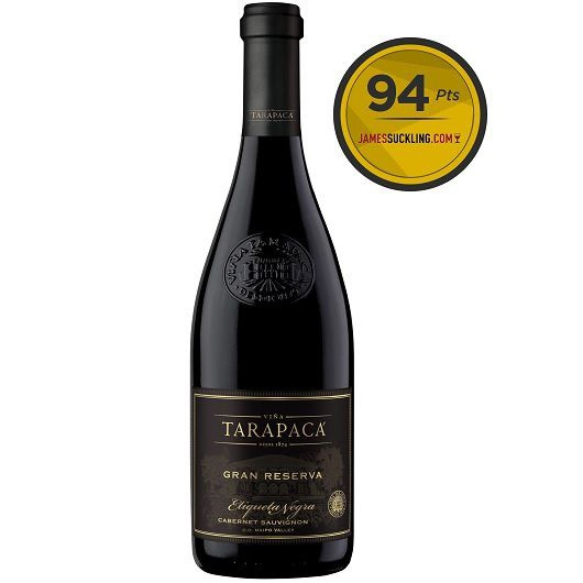 Vinho Tinto Chileno Tarapaca Gran Reserva Etiqueta Negra 2017