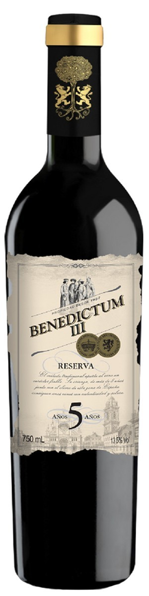 Vinho Tinto Espanhol Benedictum III 5 anos Reserva 2013