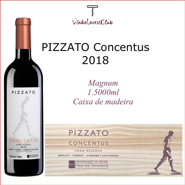 Vinho Tinto Pizzato Concentus 2018 Magnum 1.500ml Brasil