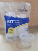 Kit Pote e Tampa 250ml com 25 unidades - Copozan