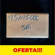 Saco PP Polipropileno 17,5x15x0,006 Sem Furo - 5kg