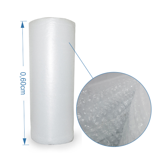 Bobina de Plástico Bolha 0,60 x 25 metros
