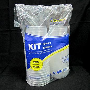 Kit Pote e Tampa 250ml (25 unidades) - Copozan