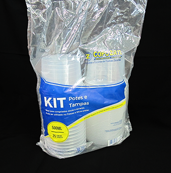 Kit Pote e Tampa 500ml (25 unidades) - Copozan