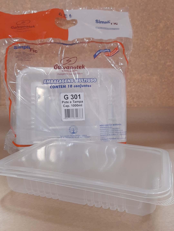 Marmita Fit 1000 ml (10 unidades) G-301