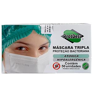 Máscara Tripla ProtDesc (50 unidades)