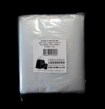 Saco BD Polietileno 18x25x0,006 - 1kg