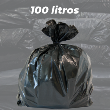 Saco de Lixo Preto Reforçado 100 LITROS - 5kg