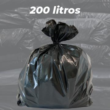 Saco de Lixo Preto Reforçado 200 LITROS - 5kg