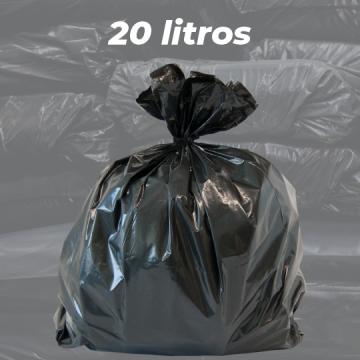 Saco de Lixo Preto Reforçado 20 LITROS - 5kg