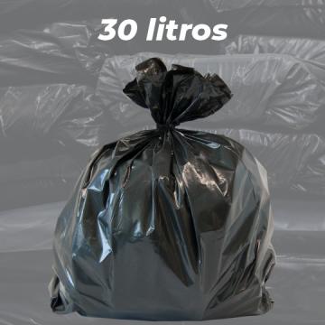 Saco de Lixo Preto Reforçado 30 LITROS - 1kg