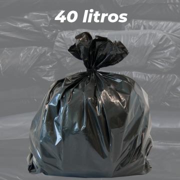 Saco de Lixo Preto Reforçado 40 LITROS - 5kg