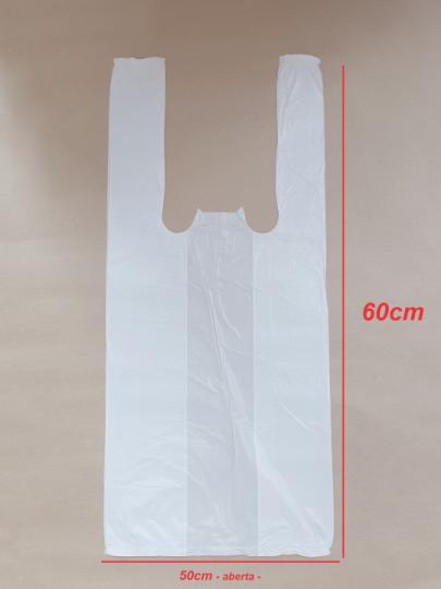 Sacola Branca 50x60cm (100 unidades)