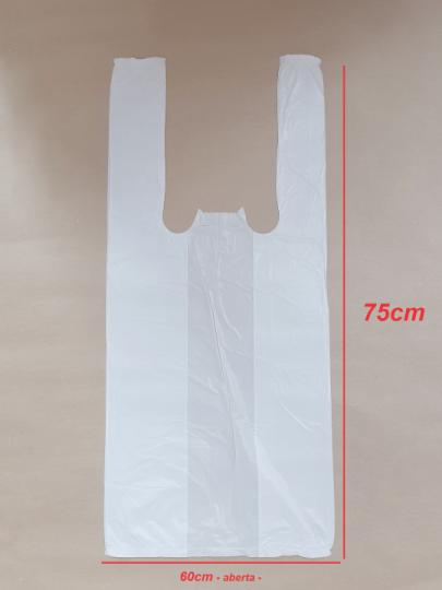 Sacola Branca 60x75cm (100 unidades)