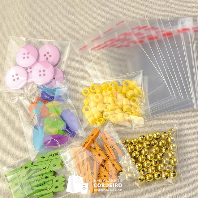 Saquinhos Transparentes com Aba adesivada 10x14cm (500 unidades)