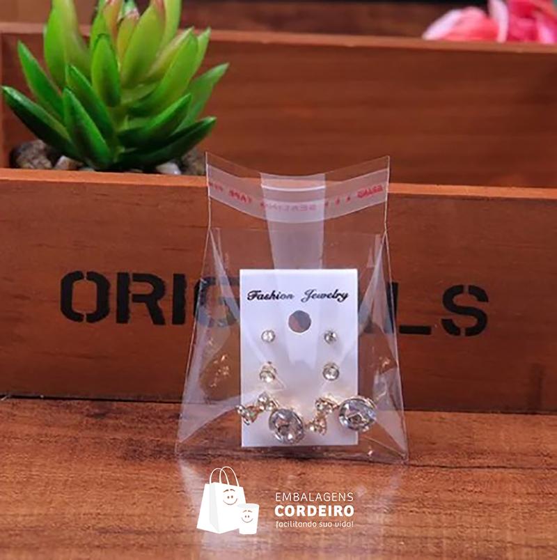 Saquinhos Transparentes com Aba adesivada 8x10cm (500 unidades)