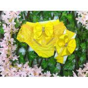Calcinha Kit Luxo Amarelo