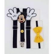 Suspensório Mickey Com Mão E Gravata