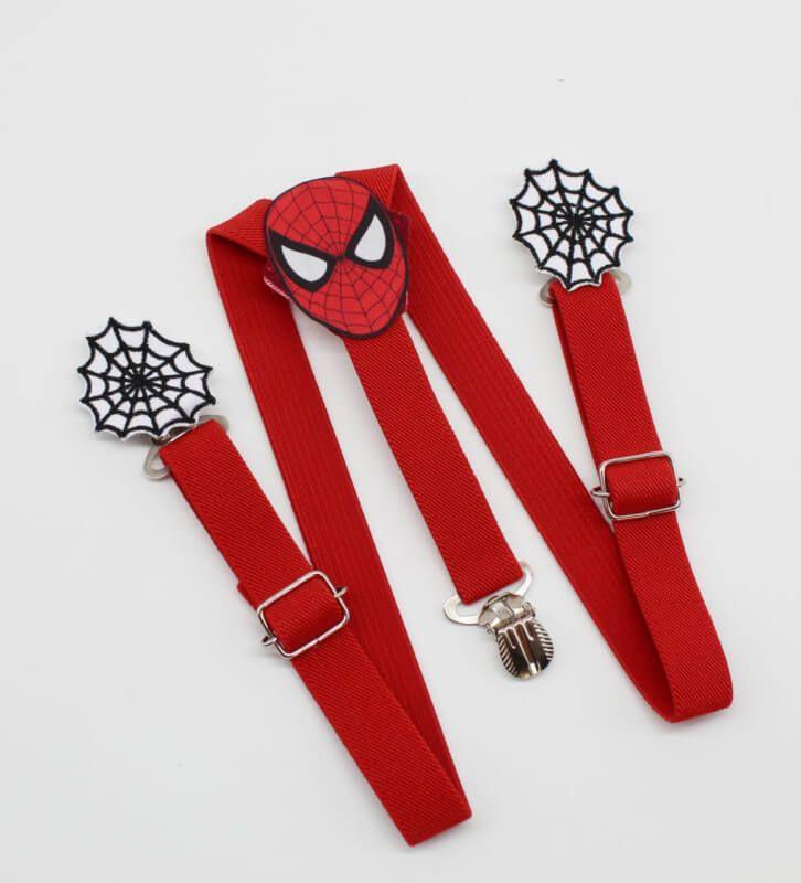 Suspensório Homem Aranha Com Teia