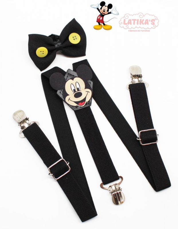 Suspensório Mickey Com Gravata