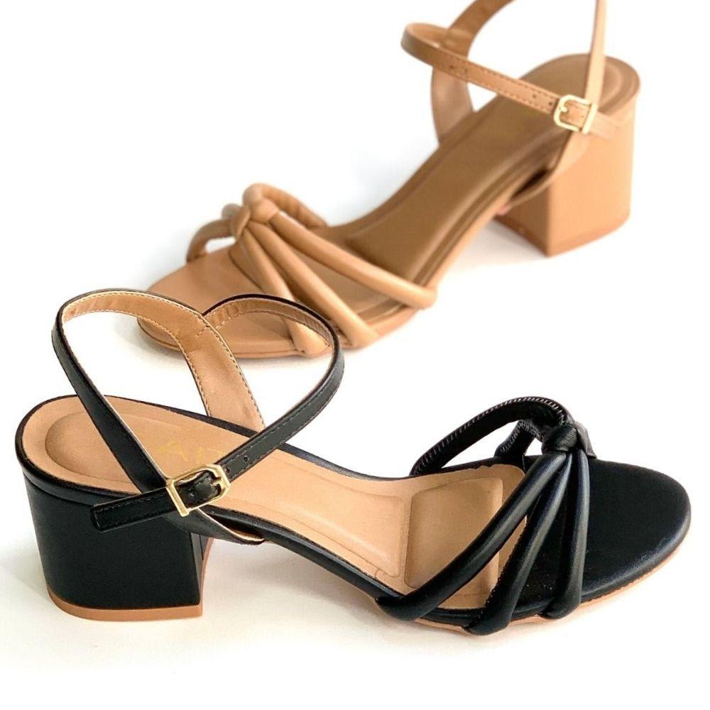 Sandalia salto bloco