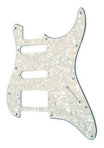 Escudo Guitarra Stratocaster Hss White Pearl